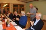 Bertil och Elsa Westberg, Lena Westergren, Hans-Olof Ödin, Gun och Torolf Berg, Tage Svanborg, Bosse Jacobsson samt Gösta Westergren, stående